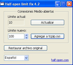 Half-open limit fix
