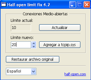 Half-open limit fix2